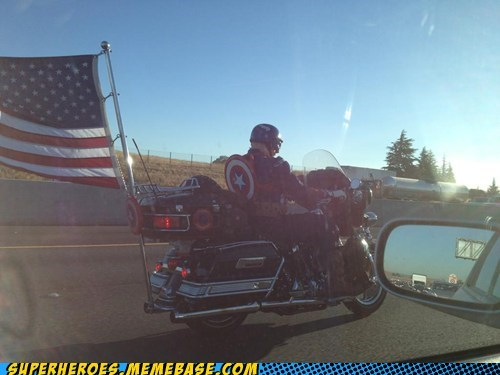 awesome captain america costume motorcycle - 6511284736