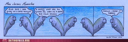 The Dating Live of a Manatee is Unforgiving