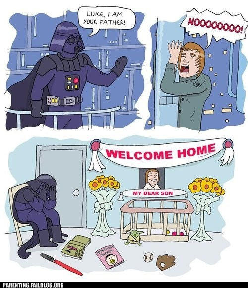 darth vador,star wars,welcome home