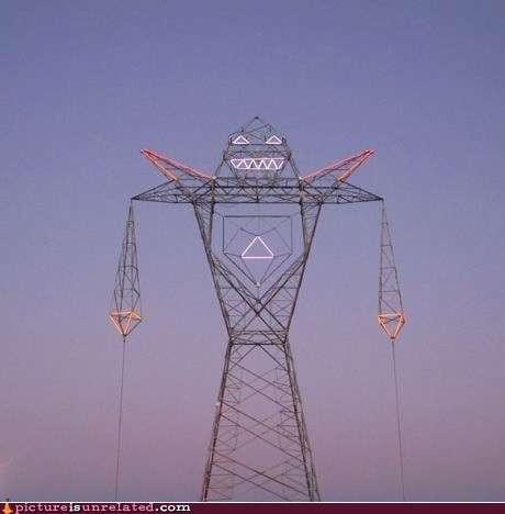 face lights powerlines robot wtf - 6511341568