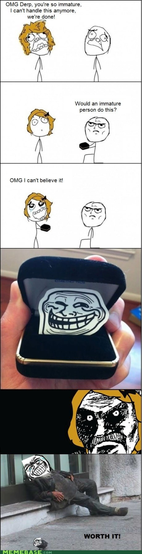 immature,marriage,proposal,Rage Comics,worth it