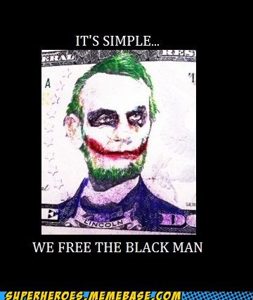 abraham lincoln batman joker Super-Lols - 6511374336