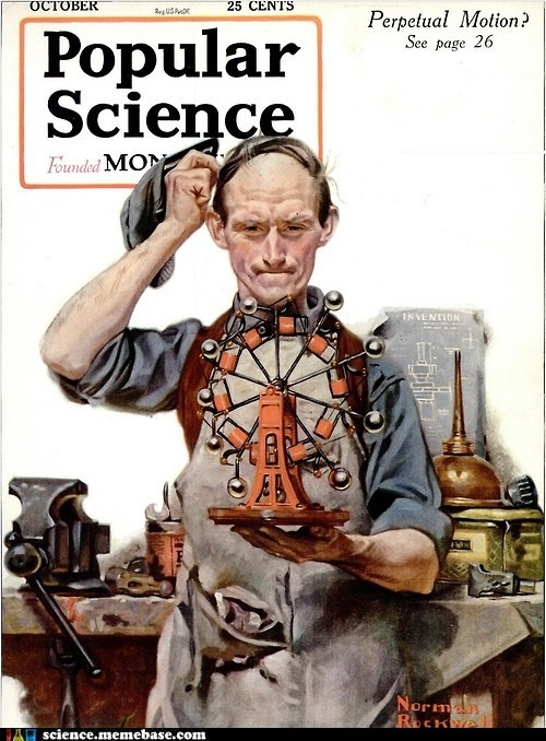 norman rockwell perpetual motion popular science - 6511399168
