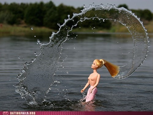 Barbie,hair flip,sexy,water