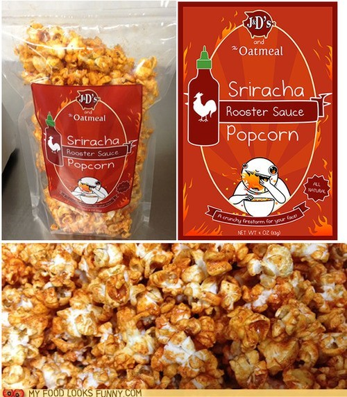 hot sauce Popcorn spicy sriracha the oatmeal - 6511523328