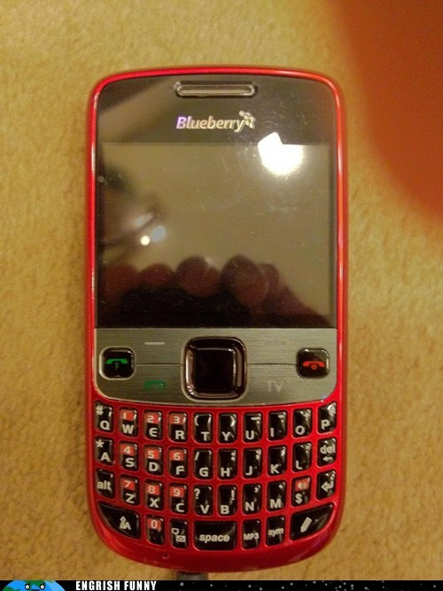blackberry blueberry smartphone