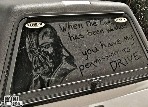 bane,batman,best of week,car,Dark Knight Rises,dirt art,g rated,Hall of Fame,win