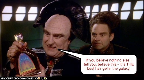 If you believe nothing else I tell you, believe this - it is THE best hair gel in the galaxy!