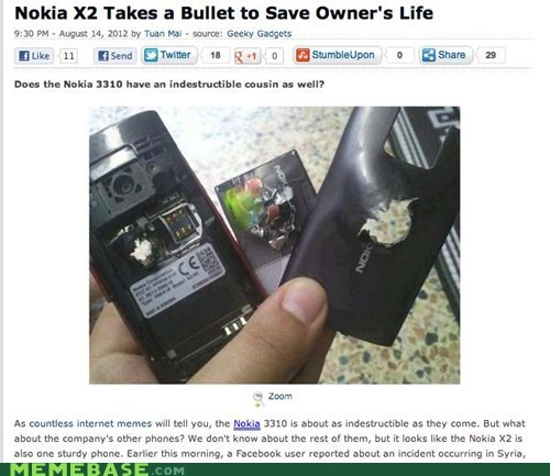 bullet,indestructable,news,nokia