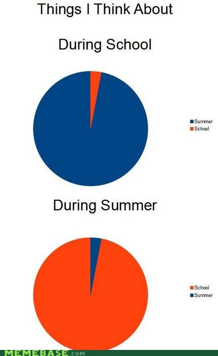 cant-win Pie Chart school summer think