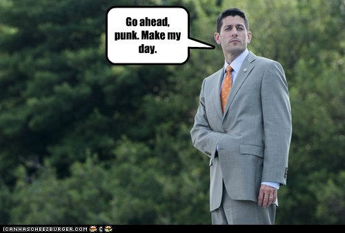 Clint Eastwood,dirty harry,go ahead,make my day,paul ryan