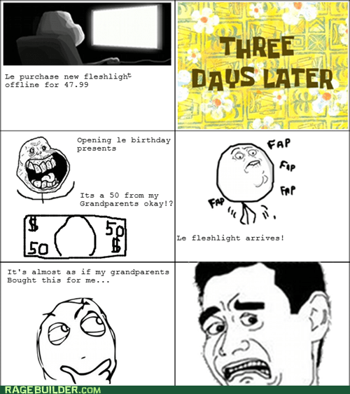 birthday,faptimes,forever alone,guilt,presents,Rage Comics
