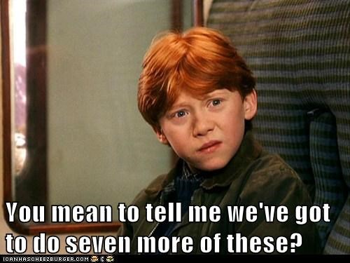 disbelief Harry Potter movies Ron Weasley rupert grint seven you mean to tell me - 6512744960
