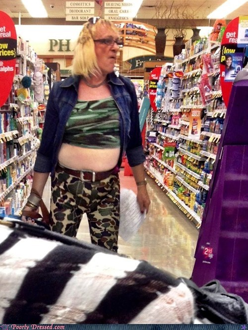 camo crossdressing oh god why Walmart weird