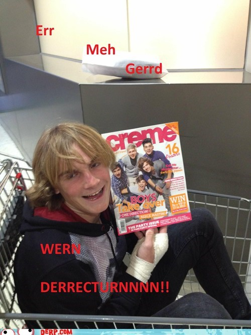 boy band derp Ermahgerd magazine one direction