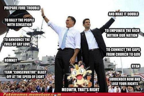 conservative Memes Mitt Romney paul ryan Pokémon Team Rocket - 6513158912