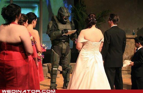 funny wedding photos geek halo master chief video games