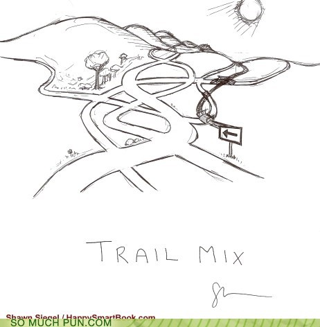 double meaning,literalism,mix,trail,trail mix