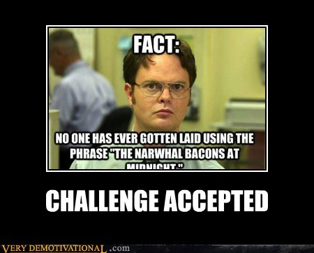 Challenge Accepted dwight hilarious wtf - 6513681920