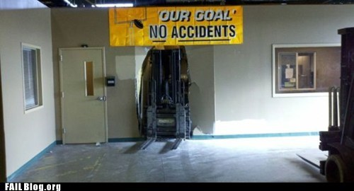 crash,forklift,funny signs,ironic