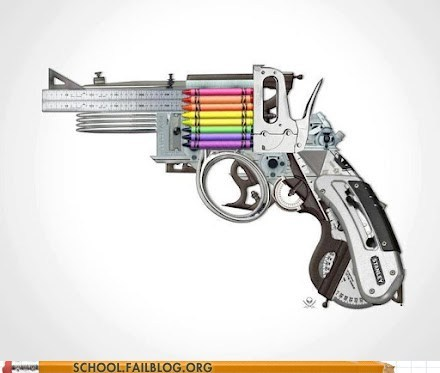 crayons,gun,protractor,ruler,school supplies