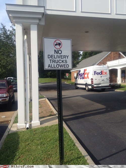 delivery trucks,fedex,no delivery trucks allowed