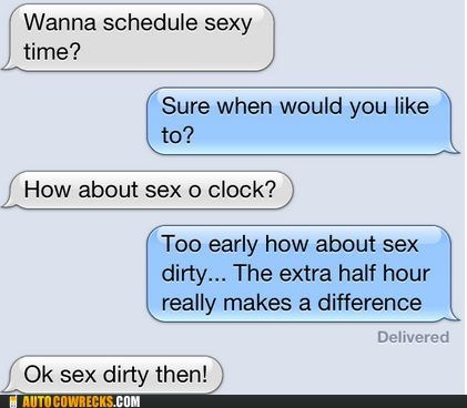 AutocoWrecks scheduled sex dirty sex o clock sexytimes