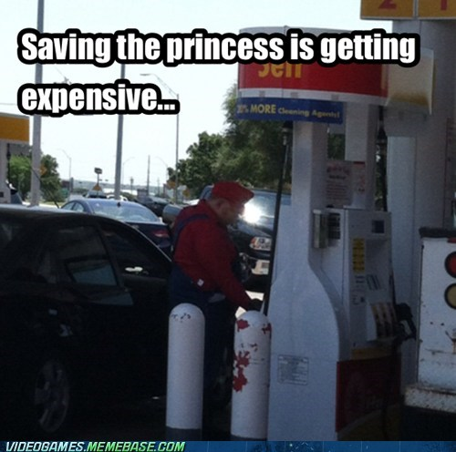 gas gas station IRL mario saving the princess - 6513971200