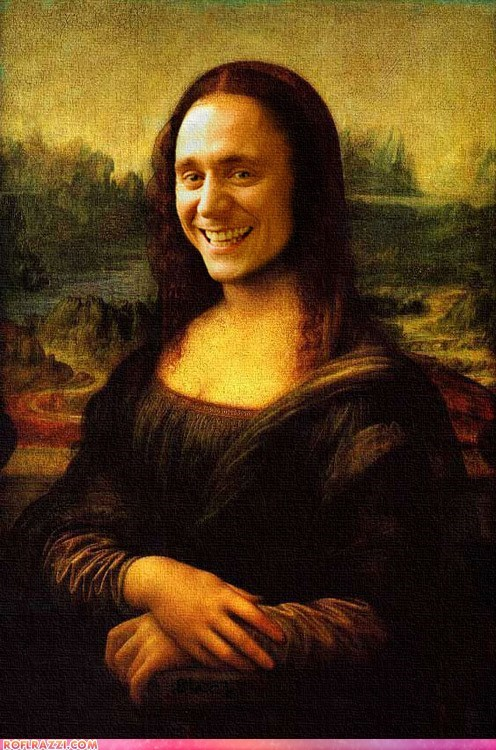 actor,art,celeb,funny,loki,mona lisa,shoop,tom hiddleston