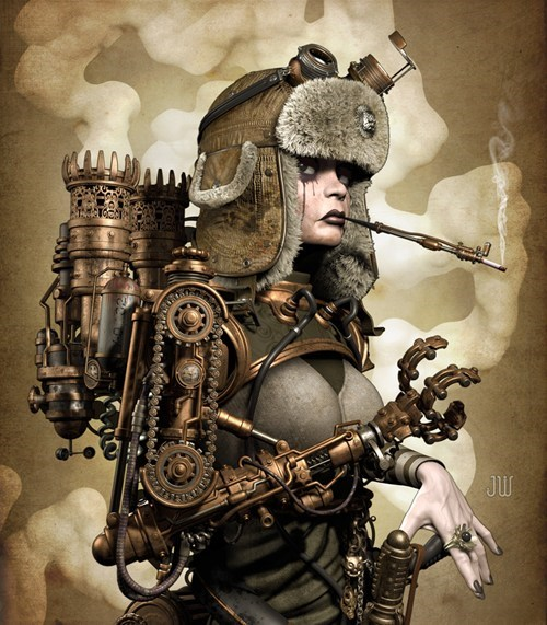 claw Fan Art pretty ladies Steampunk - 6514110208