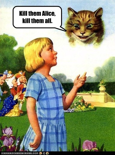 alice in wonderland,cheshire cat,girl,kill,kitty,sky