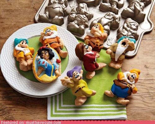 cake cakelets dwarves mold snow white - 6514383104