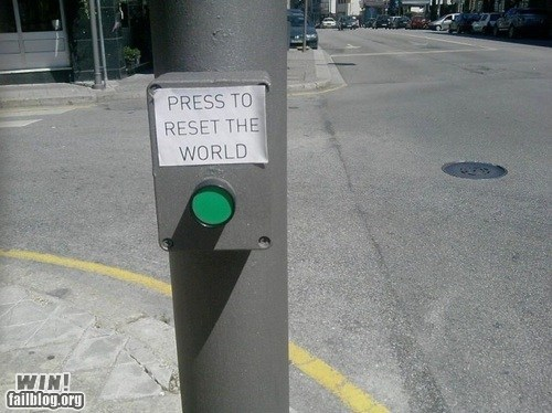 button classic push the button reset Street Art - 6514402304