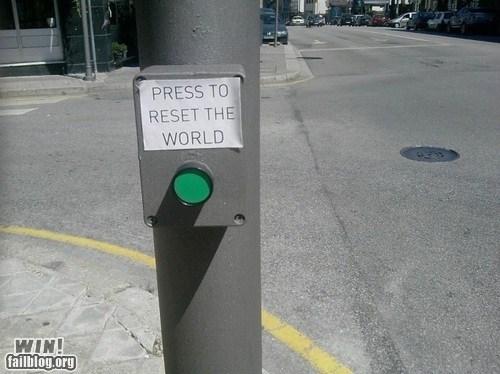 button classic push the button reset Street Art - 6514402304
