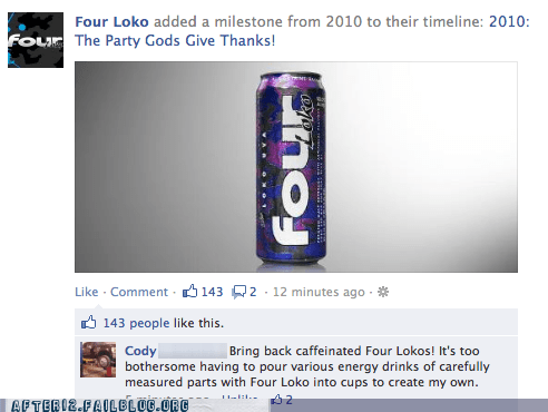 alcoholics four loko jeff goldblum party gods