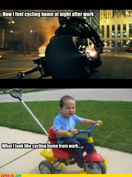 batman bike cycling how i actually am Movie - 6514498304