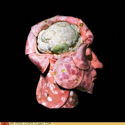 brain cauliflower cold cuts head meat sculpture - 6514508288