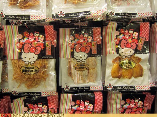 asia,hello kitty,snacks,squid