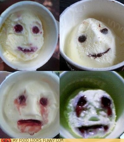 carton face ice cream scary scream Terrifying - 6514541312