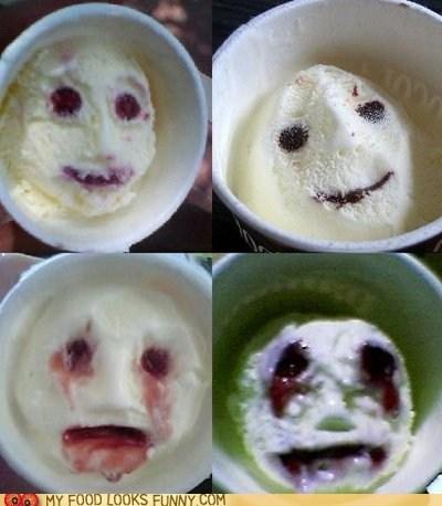 carton face ice cream scary scream Terrifying - 6514541312