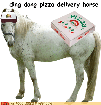 delivery,ding dong,horse,pizza