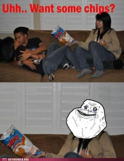 Awkward chips forever alone making out third wheel - 6514601984
