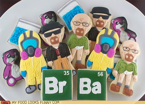 breaking bad cookies icing meth TV walter white - 6514629888