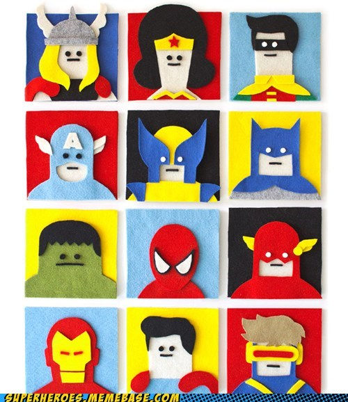 art awesome felt superheroes - 6514645248