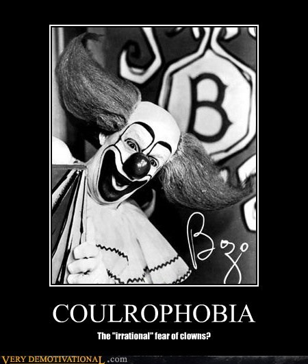 bozo,clowns,coulrophobia,scary
