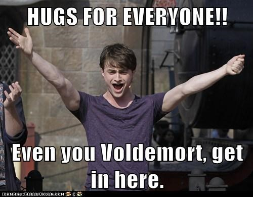 Daniel Radcliffe,emotional,get in,Harry Potter,hugs,voldemort