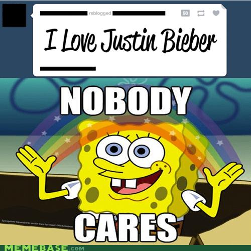 justin bieber nobody cares SpongeBob SquarePants tumblr - 6515146240