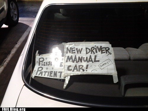 funny signs,new driver