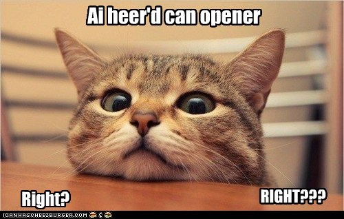 Ai heer'd can opener Right? RIGHT???