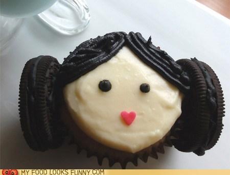 cupcake icing Oreos Princess Leia star wars - 6515708160